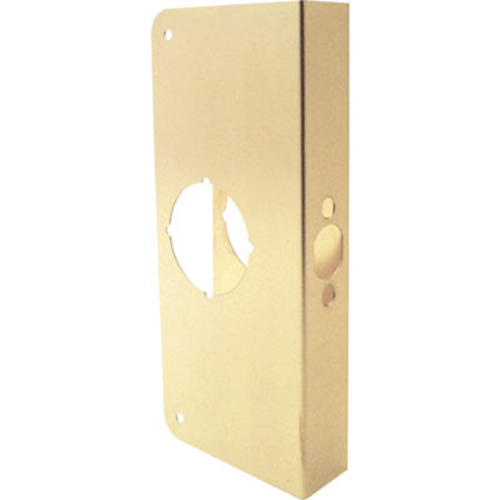Prime Line 9 Exterior Brass Door Lock Reinforcer With 2 3 8 Backs