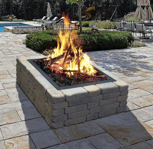 Pictures Of Square Fire Pits In A Backyard : Backyard Creations? 36 Square Fire Ring at Menards?