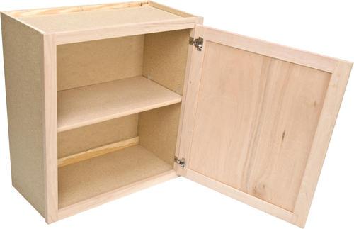 Quality one 24 x 30 unfinished oak standard wall cabinet at menards - Unfinished kitchen cabinets menards ...