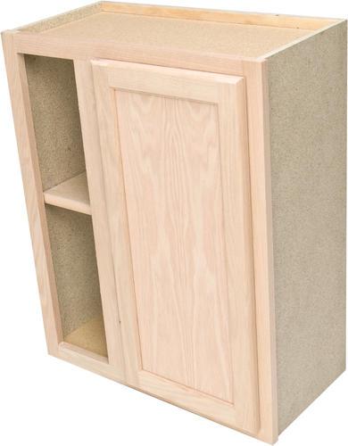 30 Unfinished Oak Reversible Blind Corner Wall Cabinet At Menards