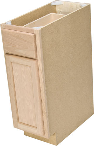 Quality one 12 x 34 1 2 unfinished oak base cabinet for Base kitchen cabinets with drawers