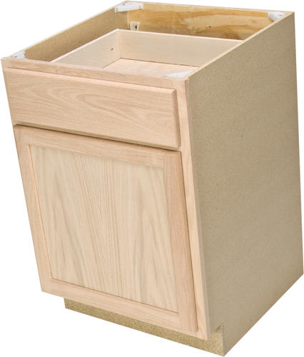 "Quality One™ 24"" X 34-1/2"" Unfinished Oak Base Cabinet With Drawer At Menards®"