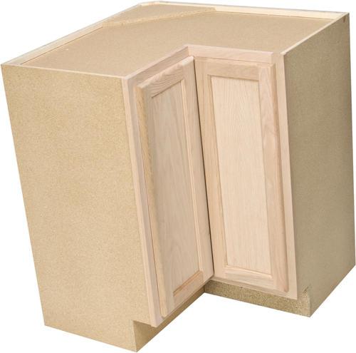 """Unfinished Kitchen Base Cabinets: Quality One™ 36"""" X 34-1/2"""" Unfinished Oak Lazy Susan Base"""