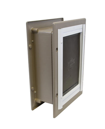 petsafe x 7 5 small aluminum wall entry pet door at