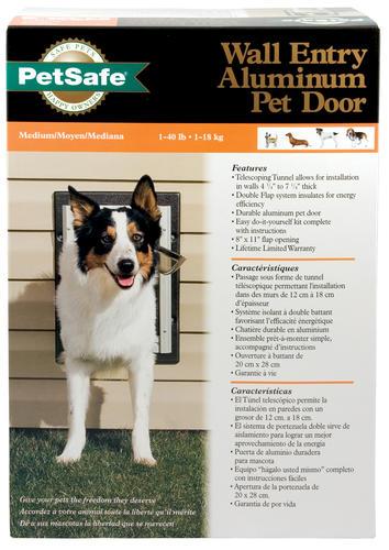 petsafe x medium aluminum wall entry pet door