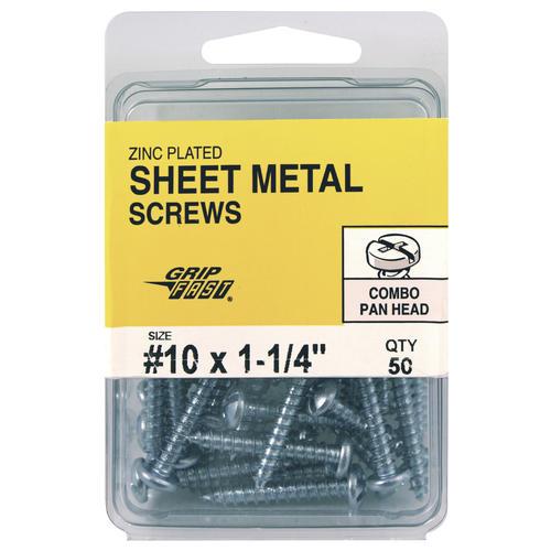 Grip Fast 10 X 1 1 4 Quot Pan Head Sheet Metal Screws 50 Pc