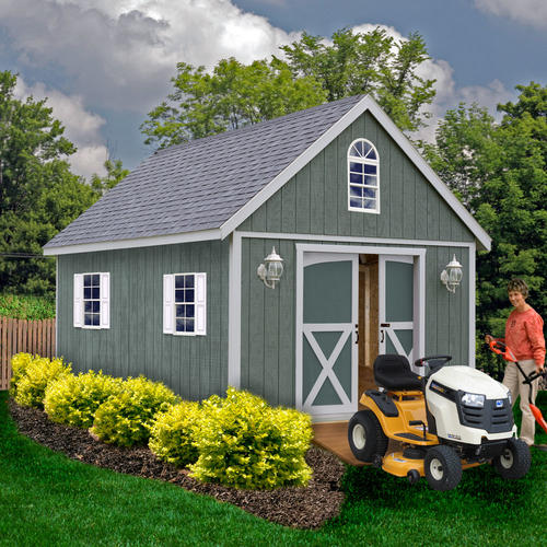 Best barns belmont 12 39 x 24 39 shed kit without floor at for Garden shed kits menards