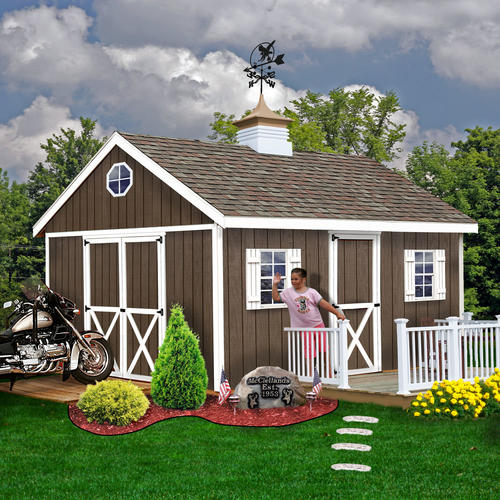 Best barns easton 12 39 x 20 39 shed kit without floor at menards for Garden shed kits menards