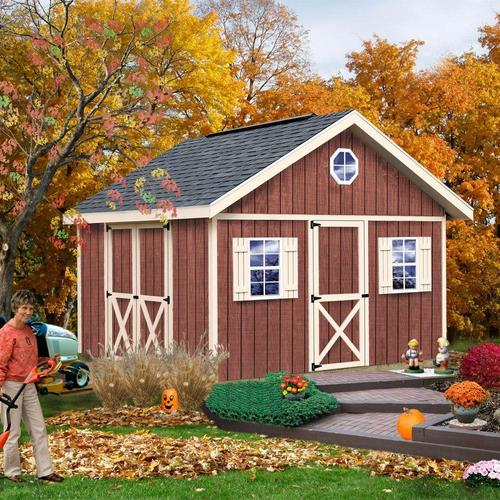 Best barns fairview 12 39 x 12 39 shed kit without floor at for Garden shed kits menards