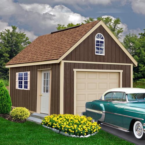 Best barns glenwood 12 39 x 20 39 garage kit without floor at for Large garage kits