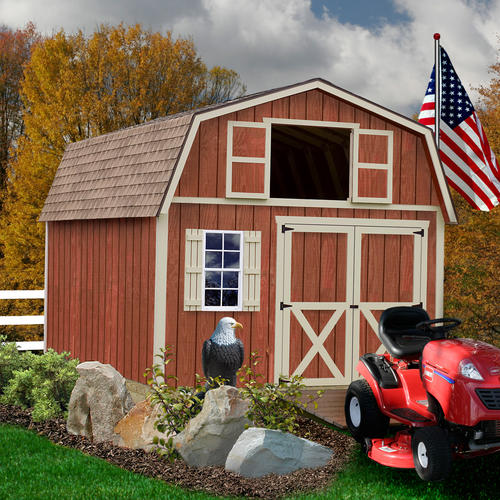 Best barns millcreek 12 39 x 16 39 shed kit without floor at for Garden shed kits menards