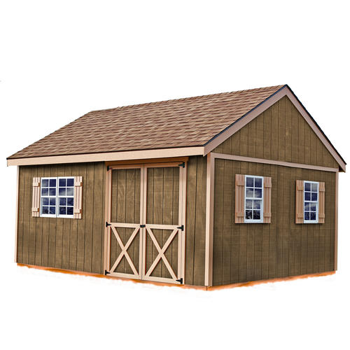 Best barns new castle 12 39 x 16 39 shed kit without floor at for Garden shed kits menards
