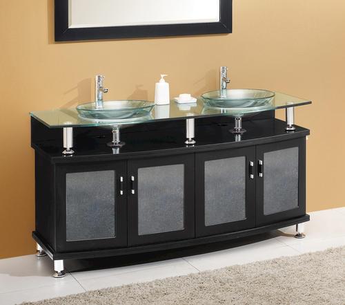 contento 60 espresso modern bathroom vanity ensemble at menards