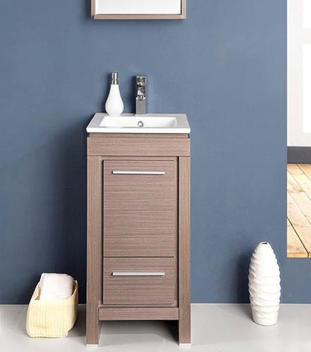 allier 16 gray oak modern bathroom vanity ensemble at menards