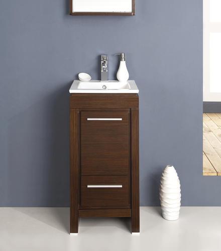 allier 16 wenge brown modern bathroom vanity ensemble at menards