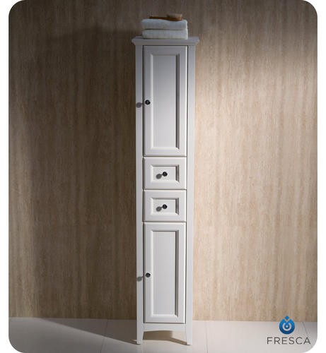 fresca oxford antique white tall bathroom linen cabinet at menards