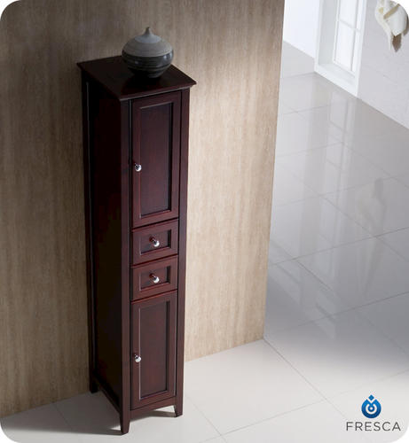 tall bathroom linen cabinet fresca oxford mahogany bathroom linen cabinet at menards 174 20749