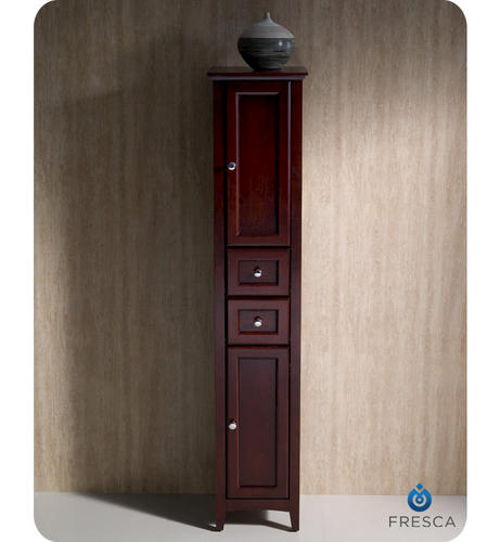 fresca oxford mahogany tall bathroom linen cabinet at menards