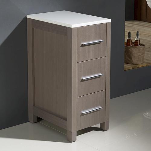 Fresca torino 12 gray oak bathroom linen side cabinet at menards - Menards bathroom wall cabinets ...