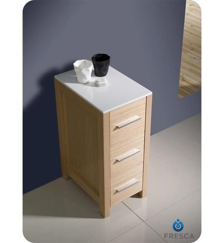 Fresca Torino 12 Light Oak Bathroom Linen Side Cabinet At Menards