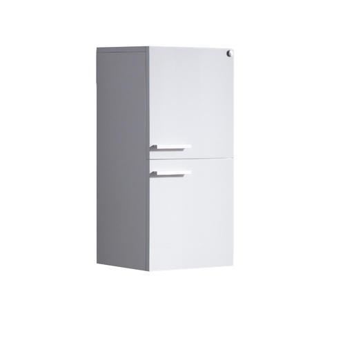 Fresca white bathroom linen side cabinet w 2 storage areas at menards - Menards bathroom wall cabinets ...