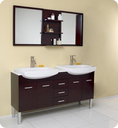 espresso modern double sink bathroom vanity w mirror at menards