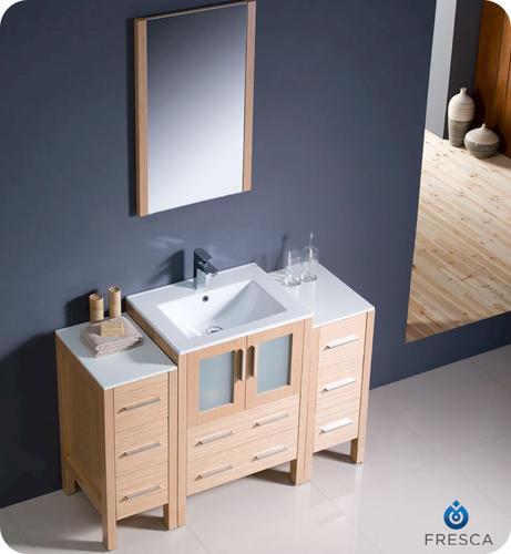 modern bathroom vanity w 2 side cabinets undermount sink at menards