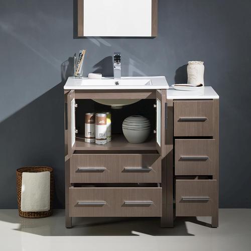 modern bathroom vanity w side cabinet undermount sink at menards