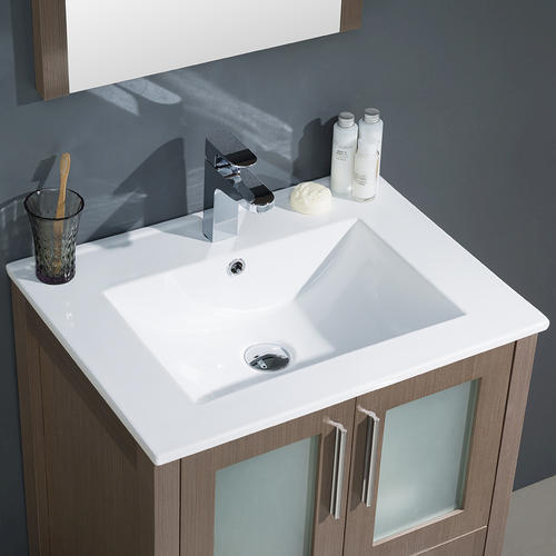 fresca torino 24 gray oak modern bathroom vanity w undermount sink at menards