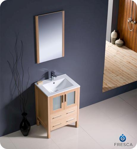 24 light oak modern bathroom vanity w undermount sink at menards