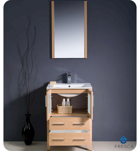 Lighted Vanity Mirror Menards : Fresca Torino 24
