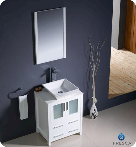 Creative  Andover White Bathroom Vanity With White UM Sink At Menards