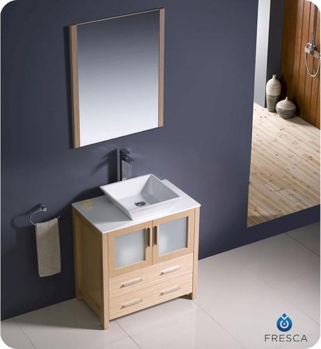 30 light oak modern bathroom vanity w vessel sink at menards