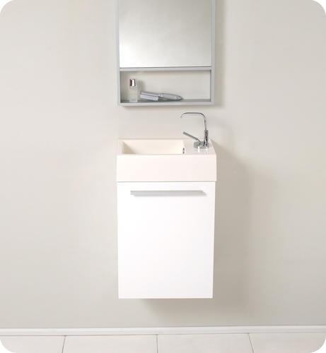 Small Bathroom Vanities Menards : Fresca pulito small black modern bathroom vanity w tall