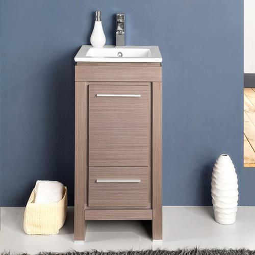 Allier 16quot; Gray Oak Modern Bathroom Vanity Ensemble at Menards