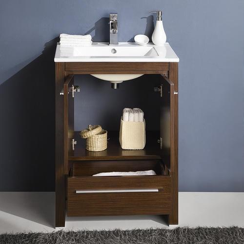 allier 24 wenge brown modern bathroom vanity ensemble at menards