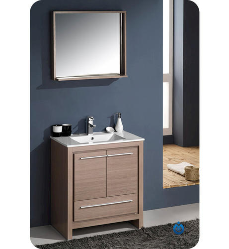 Fresca Allier 30 Quot Gray Oak Modern Bathroom Vanity W