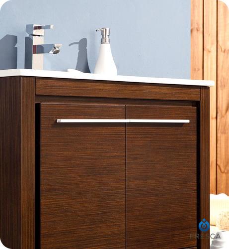 allier 30 wenge brown modern bathroom vanity ensemble at menards
