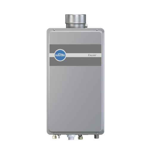 Tankless Gas Water Heaters Tankless gas water heaters offer continuous hot water in an efficient and space-saving design. Tankless water heaters are only on when you are using hot water so they are much more efficient than traditional tank-type water heaters.