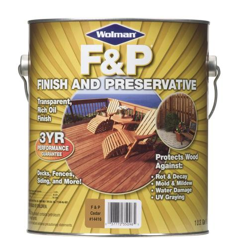 Wolman 5 Gal F P Natural Exterior Wood Stain Finish And: Wolman™ F&P® Oil Finish And Preservative At Menards®