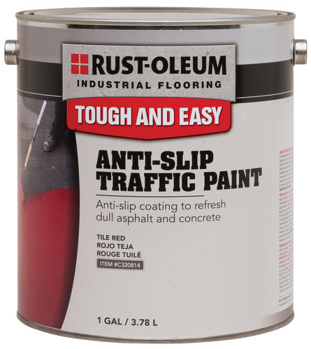 Rust Oleum Industrial Flooring Yellow Anti Slip Traffic Paint 1 Gal At Me