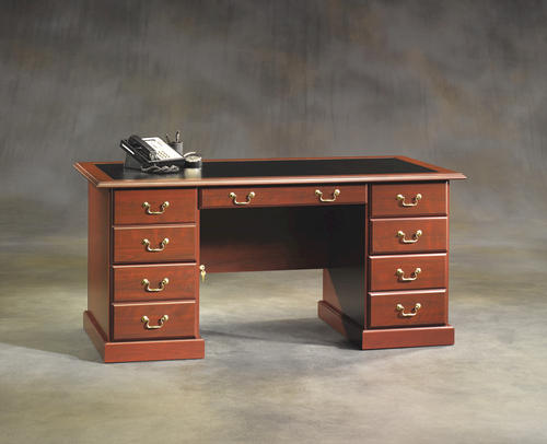 Warm Cherry Executive Desk Home Office Collection: Sauder Heritage Hill Classic Cherry Executive Desk At Menards®