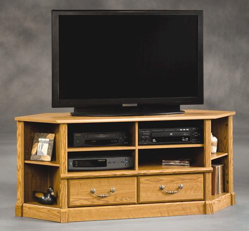 Sauder Orchard Hills Carolina Oak Corner Entertainment Center At