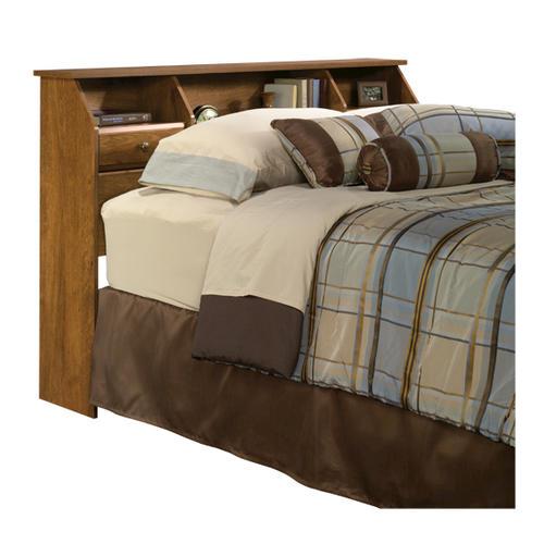Sauder Shoal Creek Full Queen Oiled Oak Bookcase Headboard