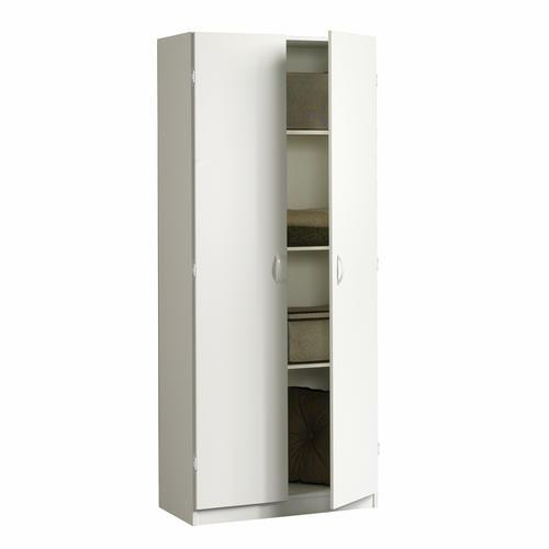 Sauder Beginnings Soft White Storage Cabinet At Menards