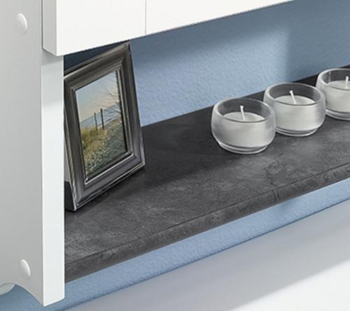 sauder bath soft white wall cabinet at menards