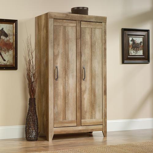 sauder adept storage collection wide storage cabinet at menards