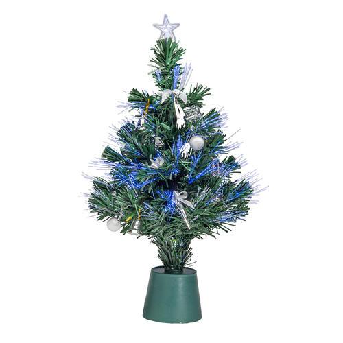 "14"" LED Fiber-Optic Christmas Tree (Assorted Styles) at ..."