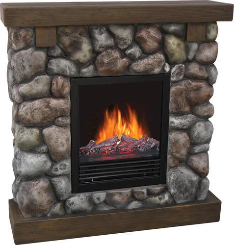 Electric Fireplace Insert Menards: Decorflame Rustic Rock Electric Fireplace At Menards®