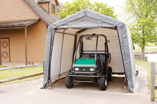 Menards Portable Carports : Shelterlogic shed in a box peak style